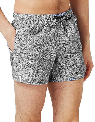 Topman Granite Effect Swim Shorts-GREY-Large/X-Large