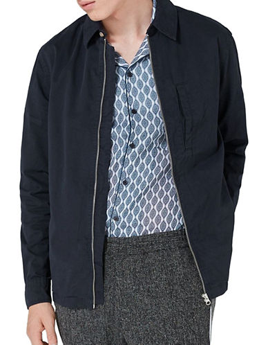 Topman Classic Harrington Jacket-NAVY-Small
