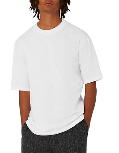 Topman Longline Oversized T-Shirt-WHITE-Small