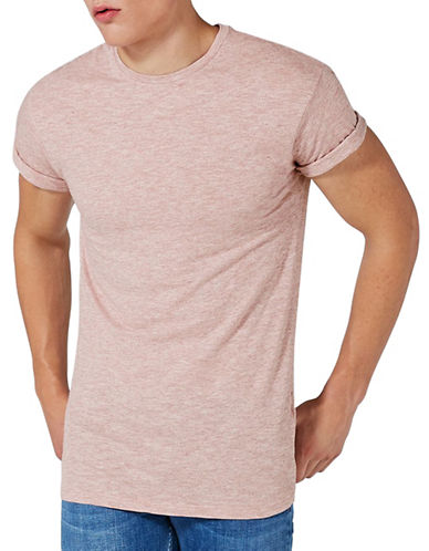 Topman Slub Muscle Roller T-Shirt-PURPLE-X-Small