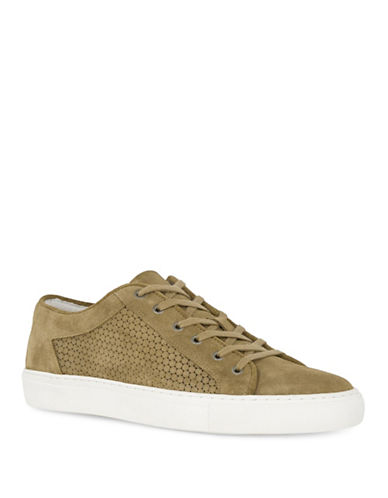 Topman Suede Upper Sneakers-BROWN-43
