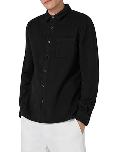Topman LTD Carson Heavyweight Shirt-BLACK-Small