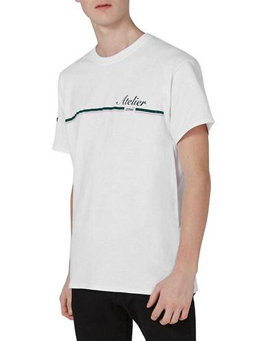Topman Atelier-Printed T-Shirt-WHITE-Large 90023563_WHITE_Large
