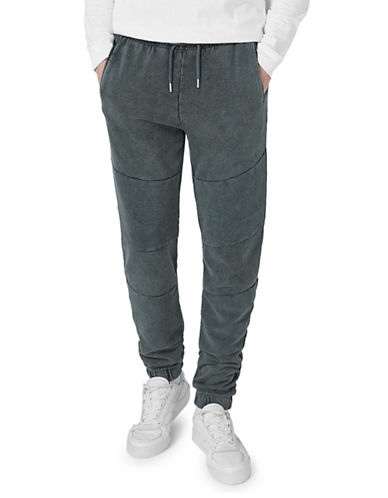 Topman Skinny Fit Acid Wash Joggers-GREY-Medium