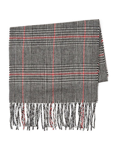 Topman Glen Plaid Scarf-MULTI-One Size