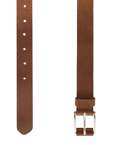 Topman Leather Smart Belt-LIGHT BROWN-XX-Small