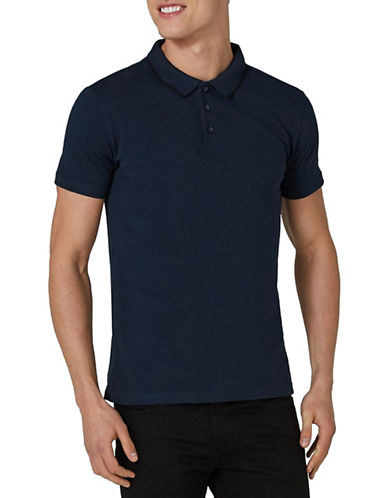 Topman Muscle Fit Leon Polo-LIGHT BLUE-X-Large
