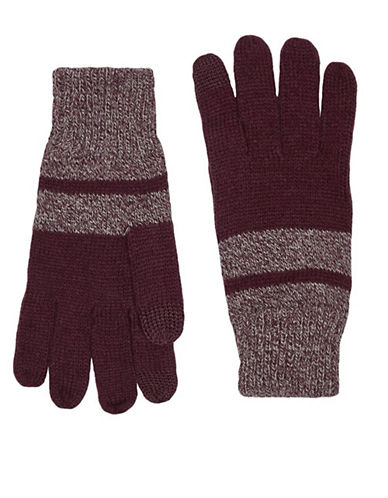 Topman Touchscreen Gloves-BURGUNDY-Small