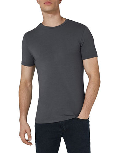 Topman Ultra Muscle Fit T-Shirt-GREY-Small