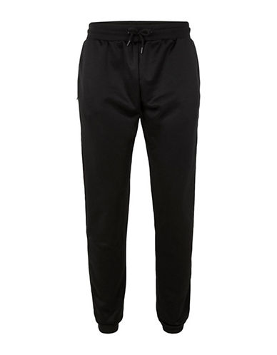 Topman Classic Fit Tricot Track Pants-BLACK-Medium
