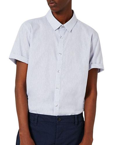 Topman Short Sleeve Casual Shirt-GREY-X-Small