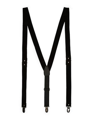 Topman Velvet Suspenders-BLACK-One Size