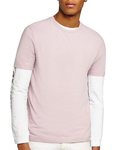 Topman Slim Fit T-Shirt-PINK-Medium 90097850_PINK_Medium
