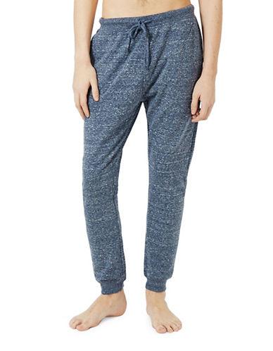 Topman Marl Loungewear Joggers-BLUE-Small