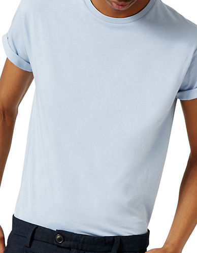 Topman Muscle Fit Roller T-Shirt-LIGHT BLUE-X-Small
