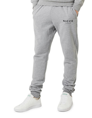 Topman NICCE Marl Relaxed Joggers-GREY-Medium