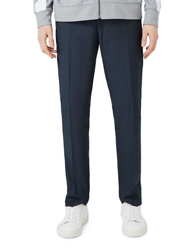 Topman Skinny Fit Dress Pants-BLUE-30 Short