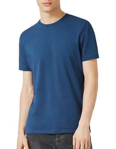 Topman Crew Neck T-Shirt-DARK BLUE-Medium