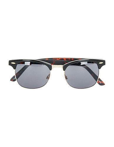 Topman Tortoiseshell Half Frame Sunglasses-LIGHT BROWN-One Size