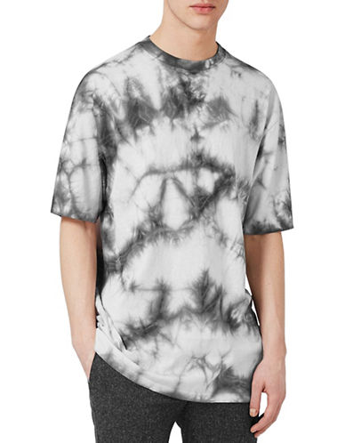 Topman Tie Dye Oversized T-Shirt-GREY-X-Small 89078866_GREY_X-Small