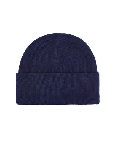 Topman Ribbed Beanie-BLUE-One Size
