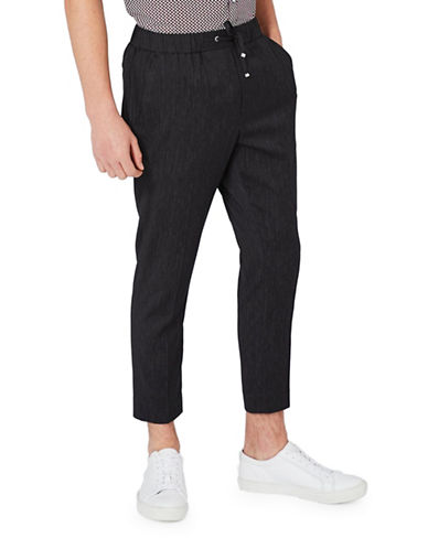 Topman Melange Smart Joggers-NAVY BLUE-34 Short