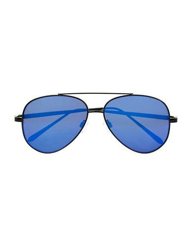 Topman Revo Aviator Sunglasses-BLACK-One Size