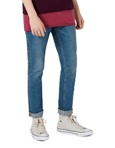 Topman Stretch Slim Jeans-BLUE-32 Long