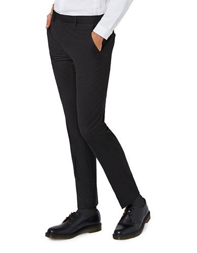 Topman Skinny Fit Suit Trousers-BLACK-30 Long