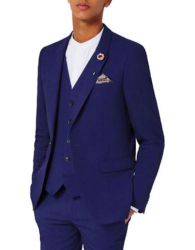 Topman Twill Ultra Skinny Fit Suit Jacket-BLUE-40