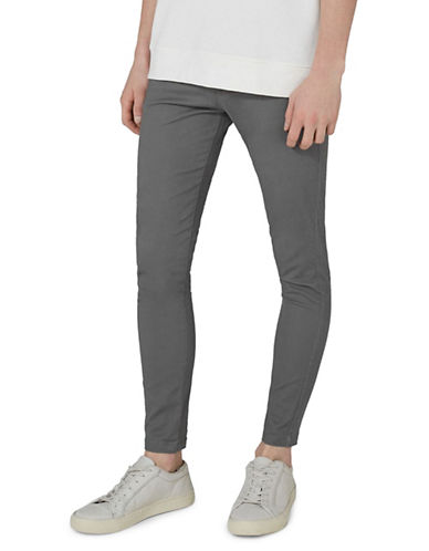 Topman Spray On Chino Pants-GREY-32 Long