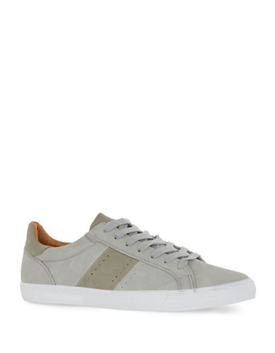 Topman Prime Faux Leather Sneakers-GREY-EU 41/US 8