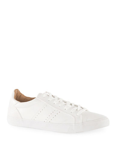 Topman Prime Faux Leather Trainers-WHITE-EU 41/US 8