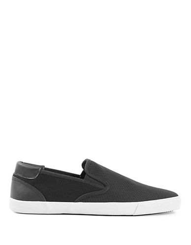 Topman Keys Slip-On Sneakers-BLACK-EU 43/US 10