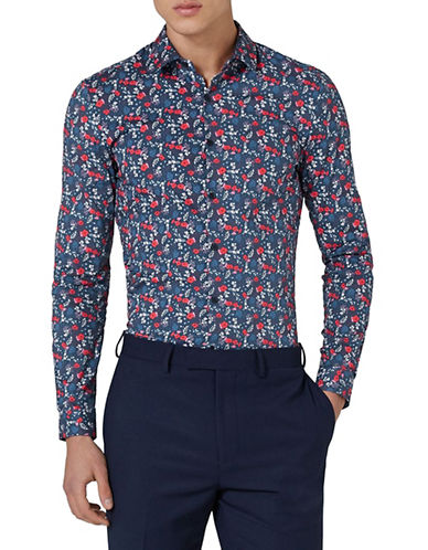 Topman Classic Fit Printed Sport Shirt-MULTI-COLOURED-Medium