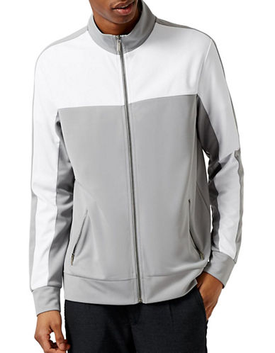 Topman Track Jacket-GREY-Medium 89075249_GREY_Medium