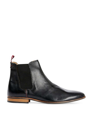 Topman Henry Leather Chelsea Boots-BLACK-EU 44/US 11