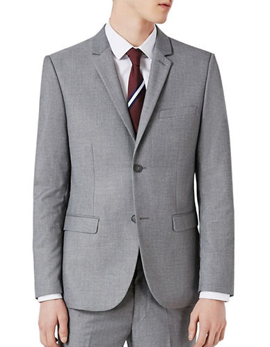 Topman Skinny Fit Suit Jacket-LIGHT GREY-28