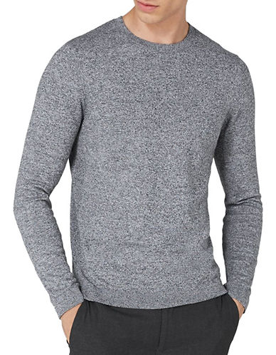 Topman Slim Fit Crew Neck Shirt-GREY-Small