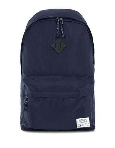 Topman Nylon Logo Backpack-DARK BLUE-One Size