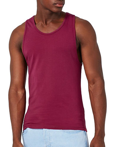Topman Ultra Muscle Fit Tank-BURGUNDY-Small