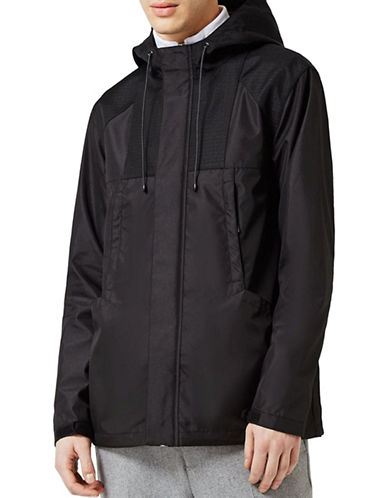Topman Tech Windbreaker Jacket-BLACK-X-Large 89149096_BLACK_X-Large