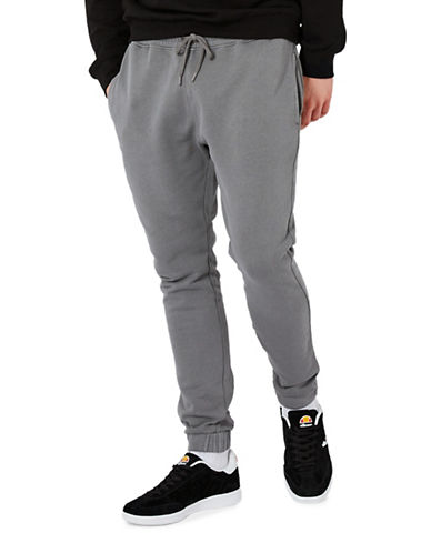 Topman Washed Joggers-BLACK-Small