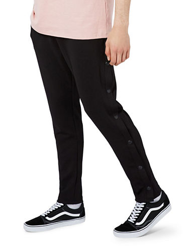 Topman Popper Joggers-BLACK-Large