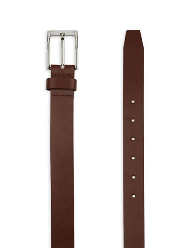 Topman Split Leather Skinny Belt-LIGHT BROWN-Small/Medium