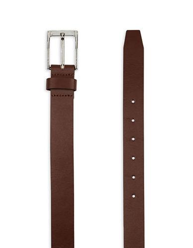 Topman Split Leather Skinny Belt-LIGHT BROWN-Large/X-Large