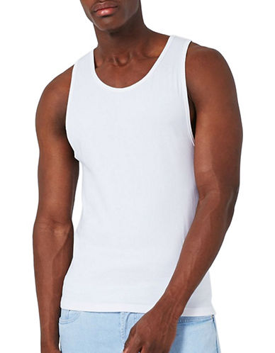 Topman Ultra Muscle Fit Tank-WHITE-Medium