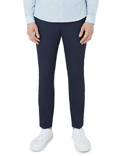 Topman Skinny Fit Smart Trousers-BLUE-32