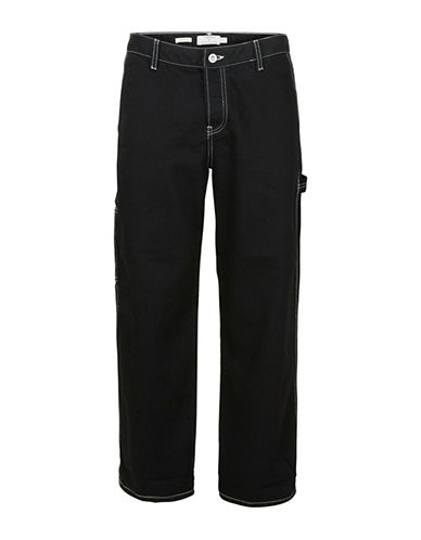 Topman Carpenter Fit Jeans-BLACK-34 Long