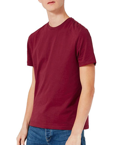 Topman Slim Fit T-Shirt-BURGUNDY-Small